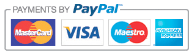 We accept PayPal, Maestro, Visa, Mastercard and American Express