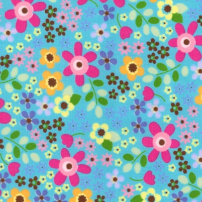 turquoise floral fabric
