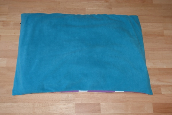 Dog Bed in Turquoise Fleece