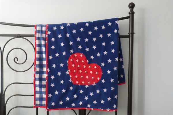 blue and red stars dog blanket