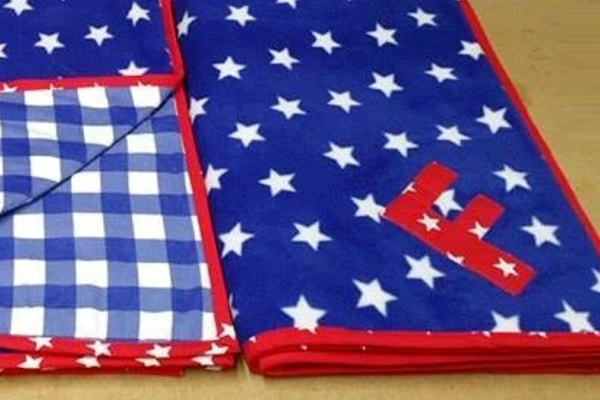bespoke dog blankets with applique letters