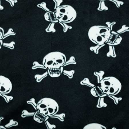 skulls and bones greyhound fleece coat design