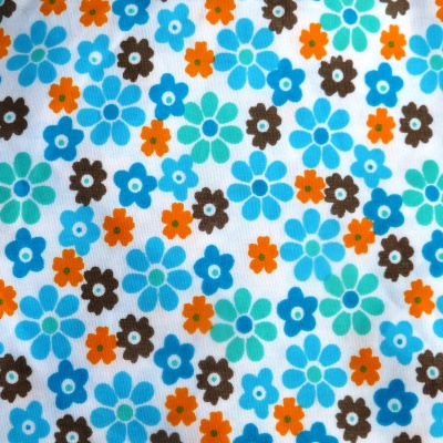 blue flowers fabric
