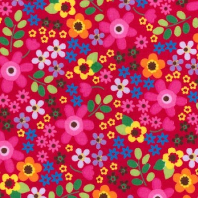 cerise floral dog bandana fabric