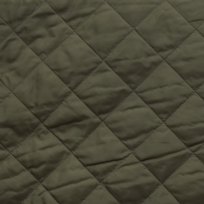 Olive Green Quilted Coat